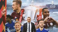 Piala FA - Ilustrasi Juara Piala FA Leicester City (Bola.com/Adreanus Titus)