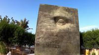 Patung mata satu dajjal di Arab Saudi / Cr: Youtube Channel Alman Mulyana