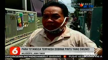 Sejumlah personil Polresta Mojokerto, Jawa Timur, langsung mengamankan Patut Martono di rumahnya, di Gang III Sinoman, Kelurahan Miji, Mojokerto. Lelaki 63 tahun ini, diduga telah menganiaya Maria kakak kandungnya.