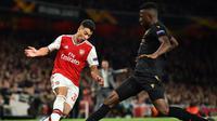 Arsenal saat melawan Vitoria Guimares (AFP)