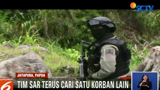 Tim SAR Gabungan masih mencari satu korban lainya, yakni perwira polisi atas nama Ipda Jesaya Nusi.