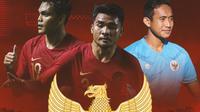 Timnas Indonesia - Rachmat Irianto, Asnawi Mangkualam, Rizky Ridho (Bola.com/Adreanus Titus)