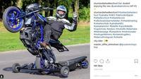 Wheelie salah satu teknik freestyle yang paling populer. (instagram)