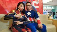 Kezia Karamoy rayakan ultah anak dengan konsep unik mengenakan kostum Avengers