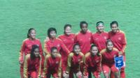 Timnas Putri Indonesia menang telak atas Maladewa dalam laga perdana Asian Games 2018. (Liputan6.com/ Luthfie Febrianto)
