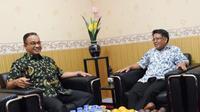 Anies Baswedan bertemu Presiden PKS Sohibul Iman di kantor DPP PKS, Sabtu sore (14/7/2018).(Doc.PKS)