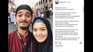 Ucapan Romantis Herfiza Untuk Ricky Harun Di Hari Ulang