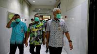 Gubernur Jawa Tengah Ganjar Pranowo saat sidak di RS Moewardi Surakarta.