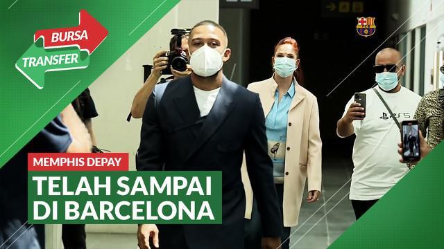 Berita Video Tiba di Barcelona, Memphis Depay Tak Sabar Ingin Bermain