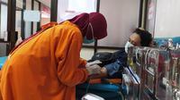 Donor darah PMI Banyumas. (Foto: Liputan6.com/PMI Banyumas)