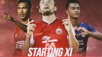 Piala Menpora - Cover Starting XI Piala Menpora 2021 (Bola.com/Adreanus Titus)