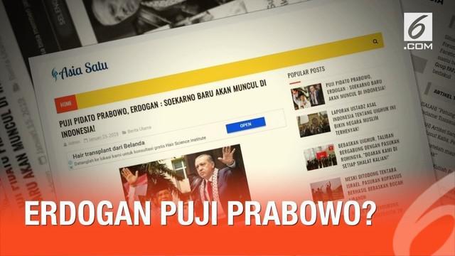 Presiden Turki Recep Tayyip Erdogan disebut-sebut mengagumi sosok capres Prabowo Subianto.