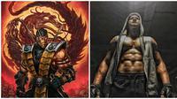 Begini Jadinya Jika 6 Karakter Mortal Kombat di Perankan Oleh Orang Indonesia (sumber:Instagram/iko.uwais dan _mortal_kombat_)