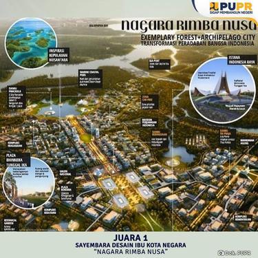 Juara 1 Desain ibu kota baru. Dok Kementerian PUPR