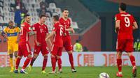Bayern Munchen meraih kemenangan 1-0 atas juara Liga Champions CONCACAF, Tigres, pada laga final Piala Dunia Antarklub 2020 di Education City Stadium, Jumat (12/2/2021) dini hari WIB. (AFP/Karim Jaafar)