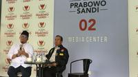 Juru Bicara BPN, Dahnil Anzar Simanjuntak menggelar jumpa pers di di Media Centre Indonesia Adik Makmur, Sriwijaya, Jakarta Selatan. (Liputan6.com/Muhammad Radityo Priyasmoro)