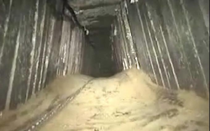 Sebuah terowongan telah dibom oleh jet Israel pada 13 Januari 2018. (IDF)