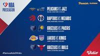 Jadwal dan Live Streaming NBA 2021/2022 Preseason di Vidio Pekan Ini