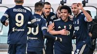 Juventus menang 2-0 atas Bologna pada lanjutan Serie A, Minggu (24/1/2021) (MIGUEL MEDINA / AFP)