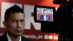 Pemain Persija Jakarta, Ismed Sofyan, memberikan keterangan saat jumpa pers di Jakarta, Rabu (22/1/2020). Ismed Sofyan akan dikirim ke Spanyol untuk menimba ilmu kepelatihan di Deportivo Alaves. (Bola.com/M Iqbal Ichsan)