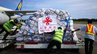Bantuan Kemanusiaan Pemerintah Tiongkok  Tiba Indonesia (FOTO: Liputan6.com/Istimewa)