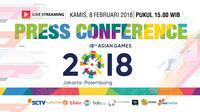 Press Conference Asian Games 2018 (Liputan6.com/Trie yas)