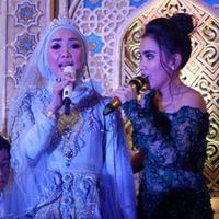 Ayu Ting Ting tampil dalam acara resepsi pernikahan mewah di Binuang, Kalimantan Selatan (Instagram/@duniaindra)