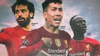 Liverpool - Mohamed Salah, Roberto Firmino, Sadio Mane (Bola.com/Adreanus Titus)
