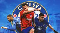 Chelsea - Ruben Loftus-Cheek, Saul Niguez, Mateo Kovacic (Bola.com/Adreanus Titus)