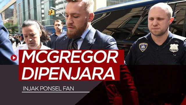 Berita video petarung MMA (Mixed Martial Arts) kenamaan, Conor McGregor, dipenjara di Florida Selatan karena merusak dan menginjak ponsel seorang penggemar.