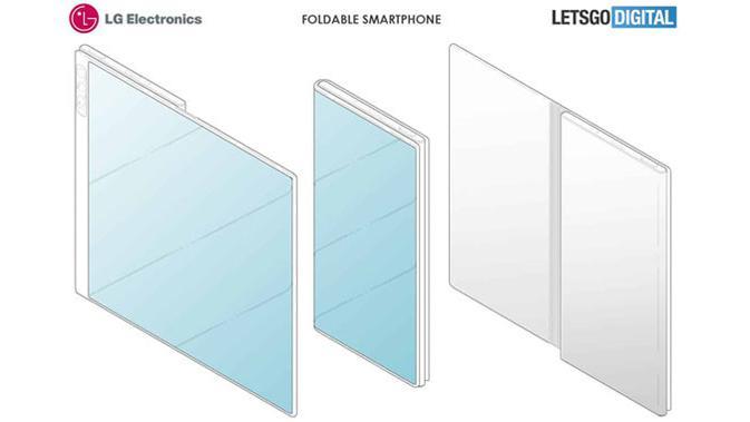 Paten smartphone layar lipat LG. (Doc: LetsGoDigital)