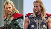 potret pemeran utama dengan stunt man  (Foto: Thor / Paramount Pictures & BobbyHanton / twitter)