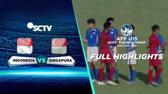 Berita video highlight Piala AFF U-15 2019 antara Timnas Indonesia melawan Singapura yang berakhir dengan skor 3-0, Senin (29/7/2019).