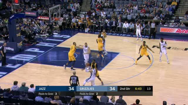 Berita video game recap NBA 2017-2018 antara Utah Jazz melawan Memphis Grizzlies dengan skor 95-78.