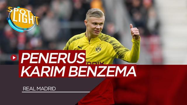 Berita Video Spotlight Erling Haaland dan 4 Pemain yang Bisa Gantikan Karim Benzema di Real Madrid