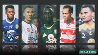 Trivia - Makan Konate, Rizky Pora, Wawan Febrianto, Ghozali Siregar, Slamet Nurcahyo (Bola.com/Adreanus Titus)