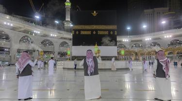 FOTO: Masjidil Haram Bersiap Menyambut Jemaah Haji