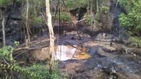 Salah satu lokasi sumur minyak ilegal di Jambi