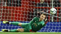 Penjaga gawang Manchester United asal Spanyol, David de Gea. (AFP/Oli Scarff)