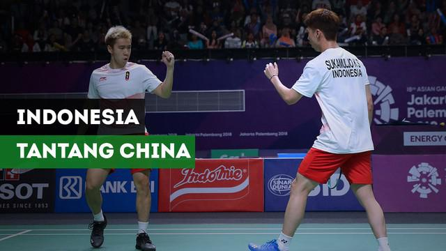 Bulutangkis beregu putra Indonesia berhasil melaju ke final usai menaklukkan Jepang dengan skor 3-1. Pada final, mereka akan ditantang China.