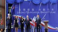 Pembukaan resmi Kedutaan de Facto Amerika Serikat di Taipei, Taiwan (AP)