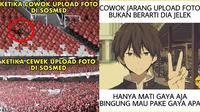 Meme cowok unggah foto (Sumber: memecomic.id)