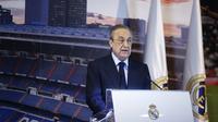 Presiden Liga Super Eropa, Florentino Perez berharap bisa berdiskusi dengan UEFA dan FIFA untuk bekerja sama dalam kemitraan guna memberikan hasil terbaik untuk liga baru dan sepak bola secara keseluruhan. (AFP/Benjamin Cremel)