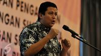 Ketua Bawaslu, Muhammad memberi sambutan saat pembukaan rapat koordinasi persiapan pilkada serentak di Hotel Royal, Jakarta, Sabtu (14/11/2015). Tujuan rakor untuk menyamakan pola pikir dan pola tindak seluruh pengawas pemilu. (Liputan6.com/Johan Tallo)