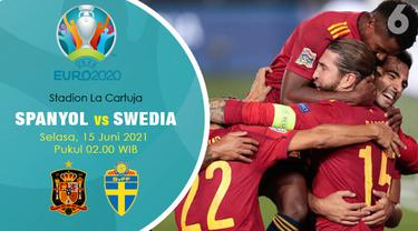 Piala Eropa Euro 2020 Spanyol vs Swedia