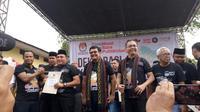 Deklarasi kampanye damai Pilkada Sumut 2018 (Liputan6.com/ Reza Efendi)