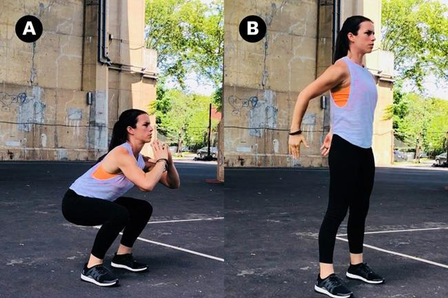 Gerakan Bodyweight Squat./Copyright Women's Health