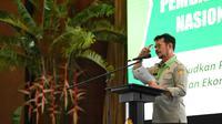 Mentan saat menghadiri Musyawarah Pembangunan Pertanian (Musrembangtan) di Auditorium Utama Kementan, Jakarta, Senin, (13/7/2020).