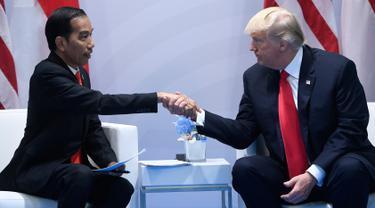 KTT G20-Donald Trump-Jokowi