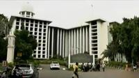 Pengamanan di Masjid Istiqlal diperketat jelang unjuk rasa 4 november 2016.
